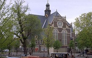 Noordermarkt - The Noorderkerk and surrounding Noordermarkt square in Amsterdam