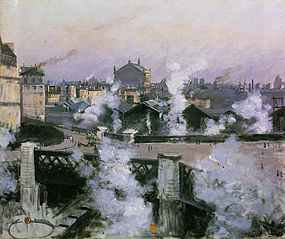 Vue de la gare Saint-Lazare, Paris