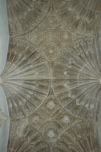 St Mary's Church, North Leigh - Perpendicular Gothic fan-vaulted ceiling of Wilcote chantry chapel