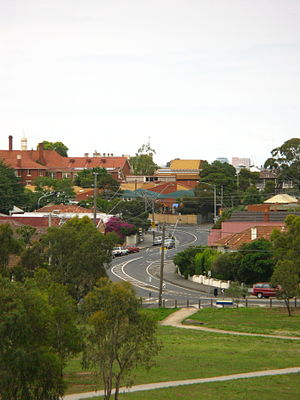 Nicholson Street, Melbourne - The series of bends at the northern end of Nicholson Street in Brunswick East