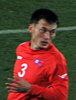 North Korea No. 3, Ri Jun-Il. FiFA 2010 World Cup. North Korea-Brasil 1-2, June 15, 2010.png