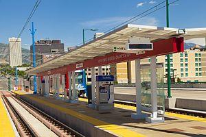 North Temple Bridge/Guadalupe (UTA station) - The TRAX portion of the North Temple Bridge/Guadalupe Station