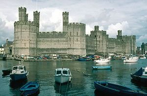 Conquest of Wales by Edward I of England - Image: North Wales Caernarfon Castle