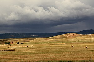 Lawrence County, South Dakota - Hay fields and scenery, North of Deadwood