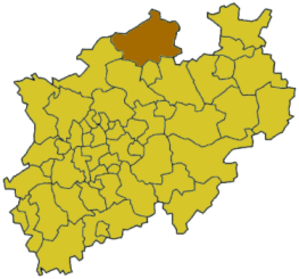 Steinfurt (district) - Image: North rhine w st