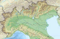 2012年艾米利亞地震 is located in Northern Italy