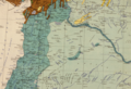 Northern Syria and Lebanon in Maunsell's map, Pre-World War I British Ethnographical Map of eastern Turkey in Asia, Syria and western Persia 04.png