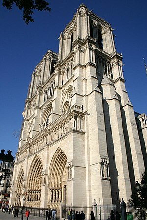 Historical quarters of Paris - The Notre Dame de Paris cathedral