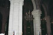 Columnas cilíndricas en Notre-Dame de París.