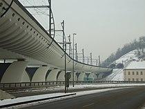 Nové spojení, Žižkovská část - prosinec 2010.JPG