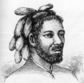 Tuvalu - A man from the Nukufetau atoll, drawn by Alfred Agate 1841.