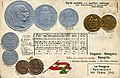 Numismatic postcard from the early 1900's - Austria-Hungary (Transleithania) 01.jpg