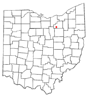 Lodi, Ohio - Image: OH Map doton Lodi