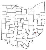 Location of Macksburg, Ohio