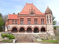 Oakes Ames Memorial Hall (North Easton, MA) - front facade.JPG