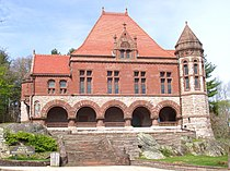Oakes Ames Memorial Hall (North Easton, MA) - front facade.JPG