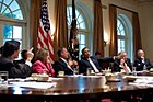 Obama meets with Congressional Leadership July 2011.jpg