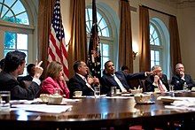 Px Obama Meets With Congressional Leadership July on United States Health Care System Timeline