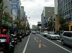 Main Street in Obihiro