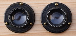 Tessar - 2 historical lenses Carl Zeiss, Jena, Nr. 145077 and Nr. 145078, Tessar 1:4,5 F=5,5cm DRP 142294 (produced before 1910).