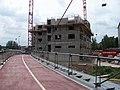 Ocelářská, cyklistická lávka, cyklostezka a výstavba Rezidence Eliška (01).jpg