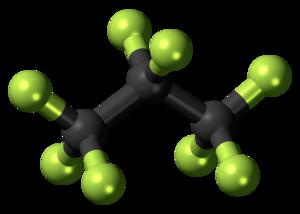 Octafluoropropane - Image: Octafluoropropane 3D ball