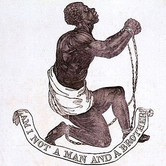 "William Wilberforce - ""Am I Not A Man And A Brother?"" Medallion created as part of anti-slavery campaign by Josiah Wedgwood, 1787"