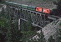 Okanagan Express CP 8836 and 8839 on Trout Creek Bridge, West Sumerland, BC on May 23, 1983 (35450573892).jpg