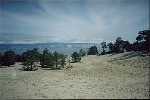 Olkhon Island - Desert landscape on Olkhon Island