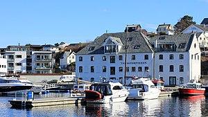 Leirvik - View of the harbor area of Leirvik