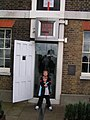 One foot in each Hemisphere, the Meridian line, Greenwich - geograph.org.uk - 771263.jpg