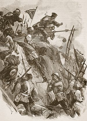 Opium Wars, storming of the Taku Forts by British troops, 1860.JPG