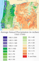 Oregon Average Annual Precipitation (1961-1990) Map.png