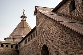 Oreshek Fortress walls and Golovin Tower.jpg