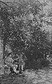 Otto Erich Hartleben (x) in der Villa Strohl-Fern in Rom, neben ihm der Bildhauer Max Levi, um 1904.jpg