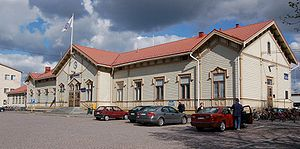 Oulu railway station - Image: Oulu railway station street