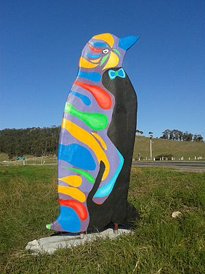Penguin, Tasmania - Just one of the many colourful penguins in, and about, Penguin