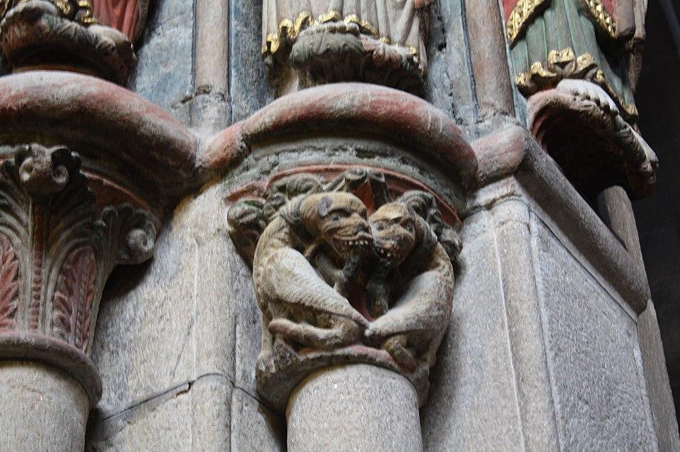 Ourense, catedral, portico Paraíso 03-34a