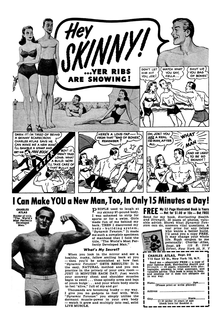 "1953 variant of the famous ""Beach Bully"" advertisement."