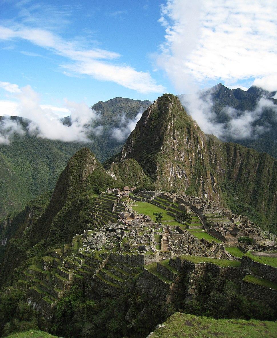 Over Machu Picchu