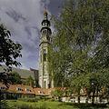 Overzicht van het hofje met de Abdijtoren of Lange Jan, gezien vanuit het hofje - Middelburg - 20398675 - RCE.jpg