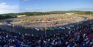 Oxford Plains Speedway 3/8 mile racetrack in Oxford, Maine, USA