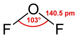 Oxygen difluoride - Image: Oxygen difluoride 2D