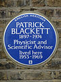 PATRICK BLACKETT 1897-1974 Physicist and Scientific Advisor lived here 1953-1969.jpg