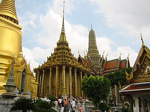 Religion in Thailand - Wat Phra Kaew, Bangkok, Thailand.