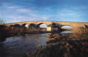 Roman bridge over the river Ofanto, near Canos...