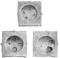 PSM V56 D0467 Holes produced in iron plates by bored gun cotton.png