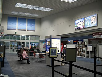 Pullman–Moscow Regional Airport - Main terminal in July 2006