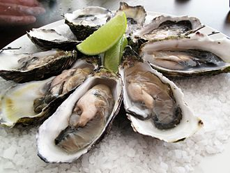 Pacific oyster - Pacific oysters prepared for culinary purposes