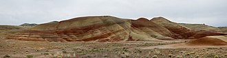 Painted Hills - Painted Hills in the John Day Fossil Beds National Monument. This is a panorama stitched from five images.
